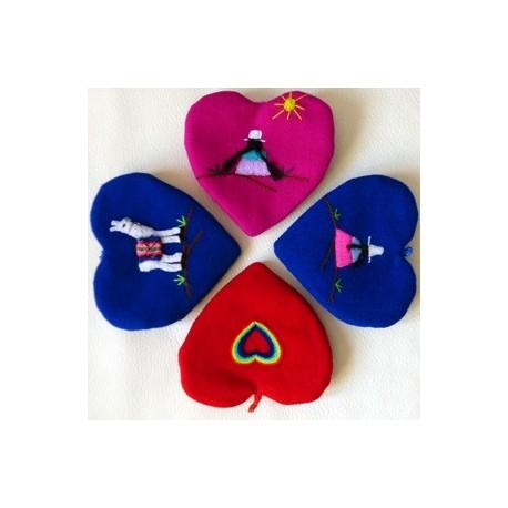 Porte-clés coeur brodé (sans les dés d'amour)