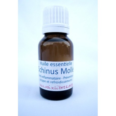 Huile essentielle Poivre rose - Schinus Molle (15ml)