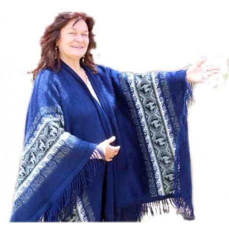Châle Ruana à motifs andins Alpaquita