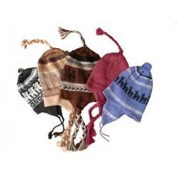 Bonnet à oreilles bolivien Pur Alpaca