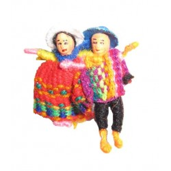 Broche figurines boliviennes