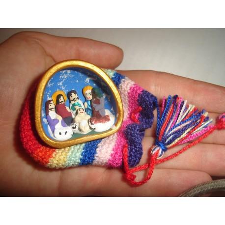 Crèche de collection miniature avec étui